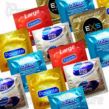 Large XL XXL King Size condoms MIX * Durex * Pasante * Mates * EXS Magnum large