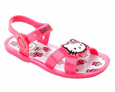 GIRLS HELLO KITTY PINK SUMMER HOLIDAY BEACH JELLY SANDALS SHOES KIDS UK SIZE 8-2