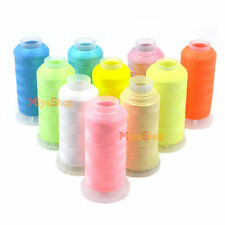 3000 Yards Spool Glow In The Dark Machine Embroidery Sewing Thread Polyester New