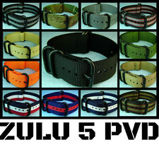 NEW ZULU 5 RING NYLON PVD DIVER'S MILITARY WATCH BAND/STRAP 18mm20mm/22mm/24mm