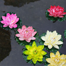 Silk Fake Artificial Simulation Lotus Flowers Pond Garden Decoration (Pack of 3)