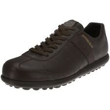 Camper Mens Shoes Camper Pelotas Leather and Fabric K100073 Dark Brown