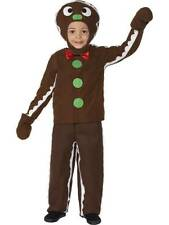 Boys Girls Gingerbread Man Christmas Xmas Festive Fancy Dress Costume Outfit