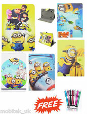 Despicable Me Leather Stand Case Cover Galaxy Tab 4 T230 T530 Android Tablet New