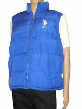 NEW US POLO ASSN MENS ATHLETIC CLASSIC PUFFER ZIP UP BIG PONY 105132PO - BLUE