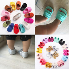 Tassel moccasins comfortable girl boy kid infant pram baby shoes age 0-18m # QPB