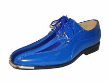 Expressions 4925 Mens Cobalt Bright Blue Formal Tuxedo Tux Style Dress Shoes