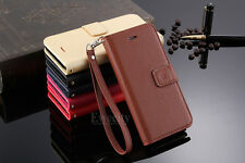 Flip Handy Luxury Wrist Strap Wallet Leather Stand Case Cover For Apple iPhone