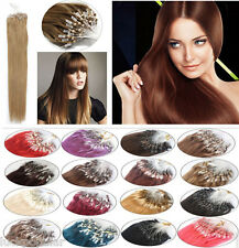 AAAAAA Remy Brazilian Human Hair Extensions Loop Micro Ring Bead Tip 18''-26''