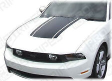 Ford Mustang 2005-2012 Roush Style Hood Accent Stripes Decals (Choose Color)
