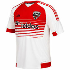 adidas DC United MLS 2016 Soccer Away Jersey Brand New White / Red / Black