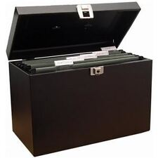 Metal File Storage Box A4 Lockable with Suspension Files Home & Office Organiser