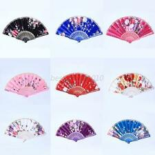 Wedding Party Dance Handmade Chinese Folding Flower Floral Folding Hand Fan B22