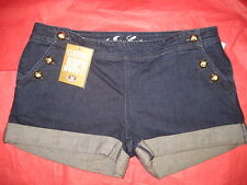 Juicy Couture Evelyn Denim Sailor Shorts Cuffed Sz 30 29 NWT NWoT