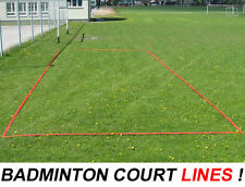 BADMINTON LINES Field Singles Double COURT BOUNDARY line Beach Volleyball