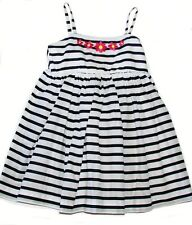 Baby Gap navy striped girls sleeveless embroidered dress lined 18-24 m & 5 NWT