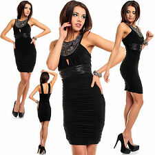Sexy New Women Clubbing Black Mini Dress S M L Evening Party Size 8 10 12