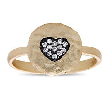 925 Sterling Silver Heart Ring with CZ Micro Pave Set