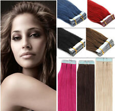 40pcs Tape In Skin Weft Indian Remy Human Hair Extensions 16''18''20''22''24''