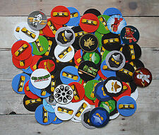 PRE-CUT / Lego Ninjago Inspired / 1 Inch Circle Round Bottle Cap Images / PRECUT