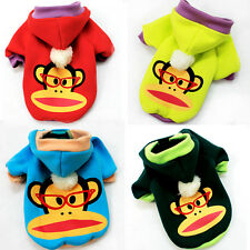 Monkey Cute Dog Hoodies Pet Cloth Clothing Dog Cat Clothes Poodle Sweater Hoodie