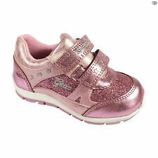 New Geox B Shaax G. A Girls Pink Sparkly Summer Trainers Size 22 23 24 25 26 27