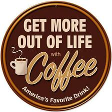 Retro Drink Coffee Metal Sign Store Business Diner Kitchen Restaurant Wall Decor