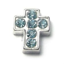 Crystal Cross Floating Charm for Living Glass Memory Locket