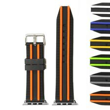 42mm Black Orange Silicone Watch Band Replacement for Apple iWatch WB1117A42JB