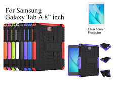 "For Samsung Galaxy Tab A 8"" Heavy DutyTPU Back Stand case & screen protector"