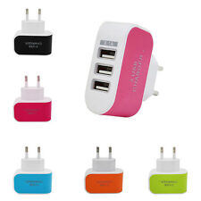 3 Ports 3.1A EU Plug Euro USB Power Adapter Home Wall Charger For iPhone Samsung