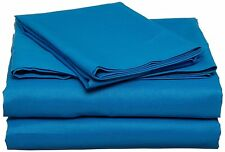 500 TC SHEET SET,DUVET,FLAT, FITTED ,BED SKIRT, PILLOWS ALL SIZES - TURQUOISE