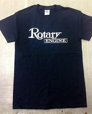 Mazda Rotary Engine T-Shirt Black 70s suit R100 Rx2 RX3 RX4 RX7 RX8 808 12a 13b