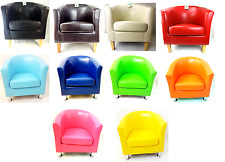 NEW FAUX LEATHER PU TUB CHAIR ARMCHAIR DINING ROOM MODERN OFFICE FURNITURE