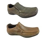 Mens Red Tape Real Leather Slip On Loafer Smart Casual Boat Deck Shoes Size UK