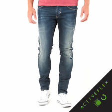 883 Police Mens Moriarty LA 359 Slim Activeflex Stretch Jeans Faded Wash