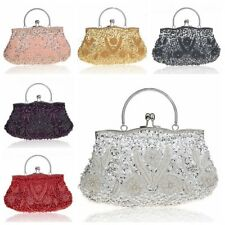 Vintage Sequined Beaded Victorian Style Party Handbag Clutch  Evening Purse Bag