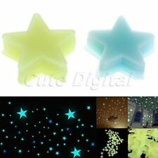 100pcs 3D Stars Glow In The Dark Luminous Fluorescent Wall Sticker Nursery Decor