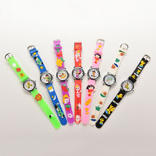New Cute Cat Silicone Cartoon Wrist Watch For Kids Children Lovely AS1 FD