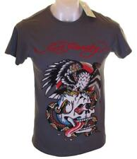 Bnwt Authentic Mens Ed Hardy Rhinestone Platinum Battle T Shirt New Small