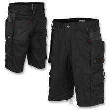 IRONMAN WORK SHORTS HEAVY DUTY REINFORCED WORKWEAR KNEE BLACK BUILDER