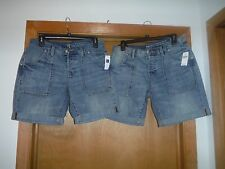Mini Jean Shorts Boyfriend Gap size 4 and 2 color Blue 100% cotton NWT