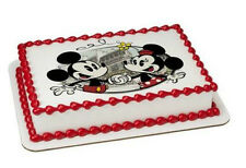 Minnie and Mickey Mouse image cake topper frosting sheet icing #8243