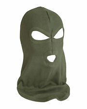 Mens Army Deluxe 100% Cotton Tough Three Hole Balaclava Face Mask Head Piece