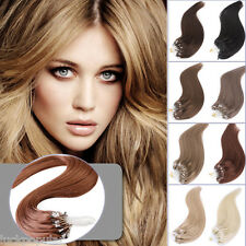 Brazilian Virgin Remy Human Hair Extensions Loop Micro Ring Bead Tip Hair 1g/s