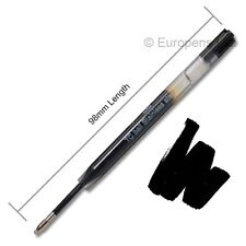 Inoxcrom (Parker Style G2) GEL INK Ballpoint Pen Refills - BLACK MEDIUM
