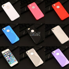 Gel TPU Silicone Case S Line Soft Skin Cover Shell For Apple iPhone SE 5S 5