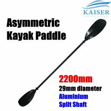 Premium 2.2m 220cm Split Shaft Alloy Aluminum Asymmetric Kayak Paddle