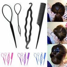 4Pcs Set Styling Clip Hair Twist Braid Ponytail Tool Accessories Bun Maker Lady