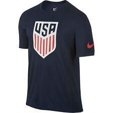 Nike United States USA Copa America 2016 Soccer Core Badge Fan Shirt New Navy
